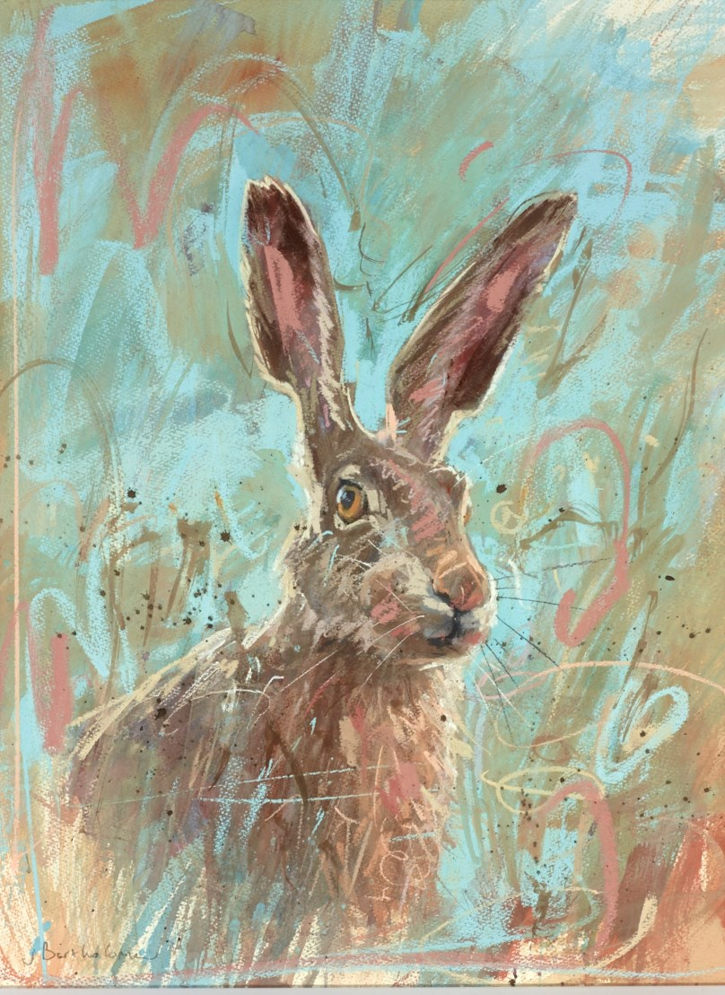 Hare on Blue